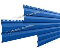Металлический сайдинг МП СК-14х226 (ПЭ-01-5005-0.4) Синий насыщенный
