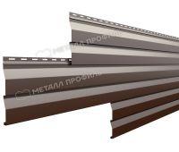 Металлический сайдинг МП СК-14х226 (PURMAN-20-8017-0.5) Коричневый шоколад