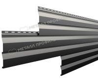 Металлический сайдинг МП СК-14х226 (PURMAN-20-9005-0.5) Черный темный