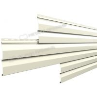 Металлический сайдинг МП СК-14х226 NormanMP (ПЭ-01-9002-0.5) Серо-белый