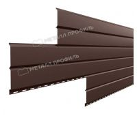 Металлический сайдинг Lбрус-15х240 (VikingMP-01-8017-0.45) Коричневый шоколад