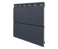 Виниловый сайдинг панель двойная Kerrafront Modern Wood - Anthracite
