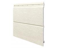 Виниловый сайдинг панель двойная Kerrafront Modern Wood - White