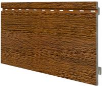 Виниловый сайдинг панель одинарная Kerrafront Wood Design - Golden Oak