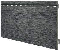 Виниловый сайдинг панель одинарная Kerrafront Wood Design - Graphite