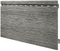 Виниловый сайдинг панель одинарная Kerrafront Wood Design - Silver Grey