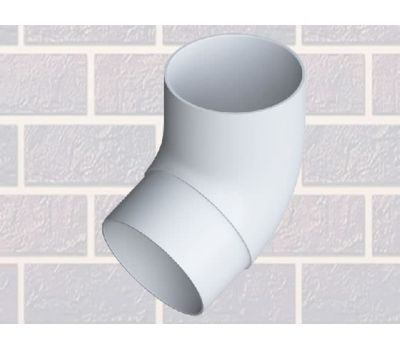 Колено трубы 67° Белое от производителя Альта-профиль по цене 137.00 р